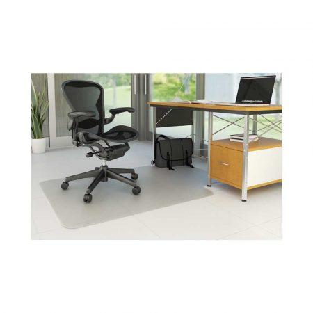 sprzęt biurowy 4 alibiuro.pl Mata pod krzesło Q CONNECT na podłogi twarde 134x115cm kształt T 72