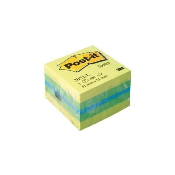 sprzęt biurowy 4 alibiuro.pl Mini Kostka samoprzylepna POST IT 2051L 51x51mm 1x400 kart. cytrynowa 39