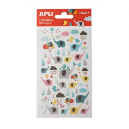 sprzęt biurowy 4 alibiuro.pl Naklejki APLI Elephants z brokatem mix kolorów 68
