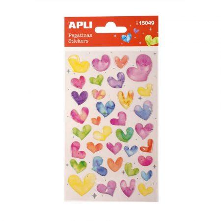 sprzęt biurowy 4 alibiuro.pl Naklejki APLI Hearts z brokatem mix kolorów 8