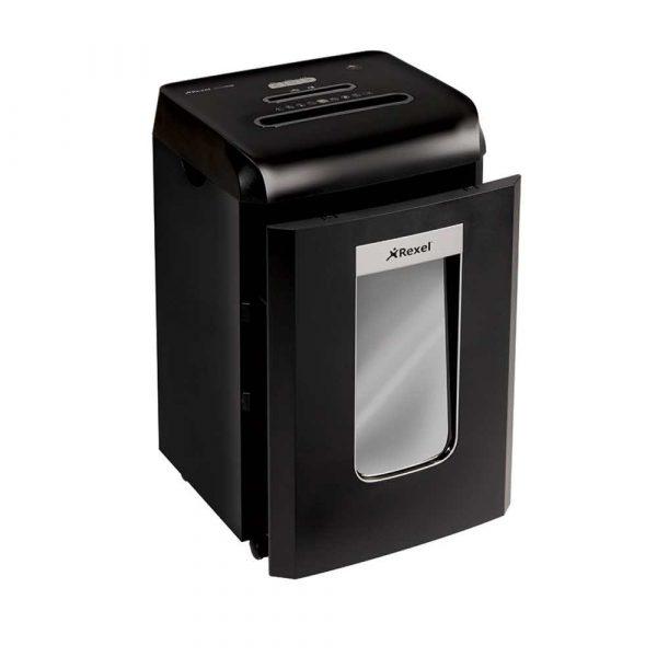 sprzęt biurowy 4 alibiuro.pl Niszczarka REXEL Promax RSX1538 konfetti P 4 15 kart. 38l karty kredytowe CD czarna 10