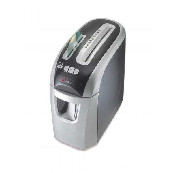 sprzęt biurowy 4 alibiuro.pl Niszczarka REXEL Prostyle 12 konfetti P 4 12 kart. 20l karty kredytowe CD srebrno czarna 83