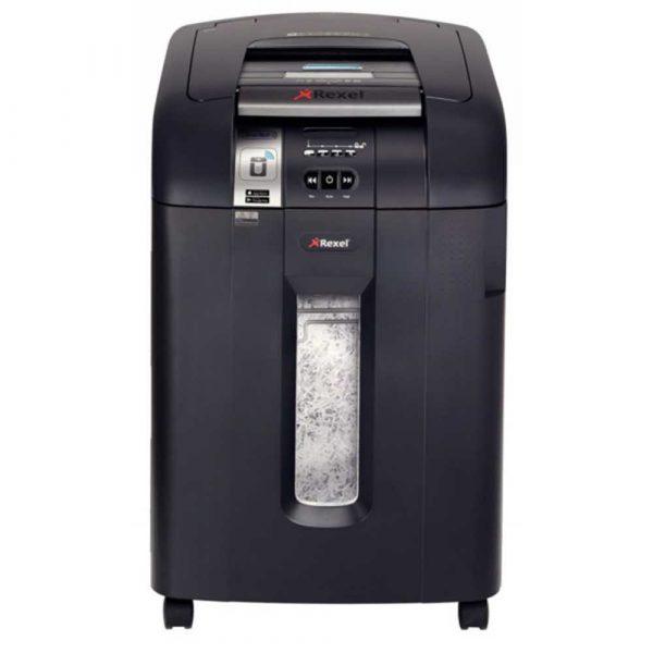 sprzęt biurowy 4 alibiuro.pl Niszczarka automatyczna REXEL SmartTech Auto 600X konfetti P 4 600 kart. 80l karty kredytowe CD czarna 19