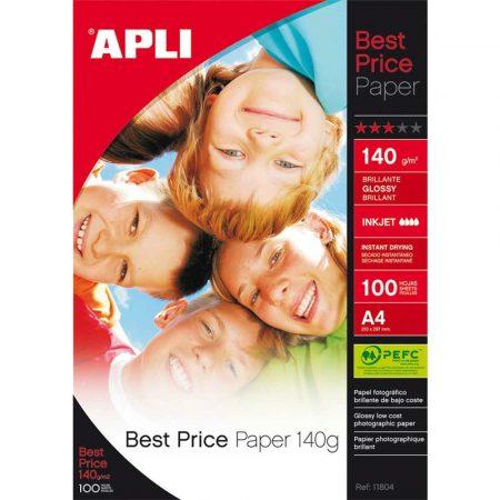sprzęt biurowy 4 alibiuro.pl Papier fotograficzny APLI Best Price Photo Paper A4 140gsm błyszczący 100ark. 36