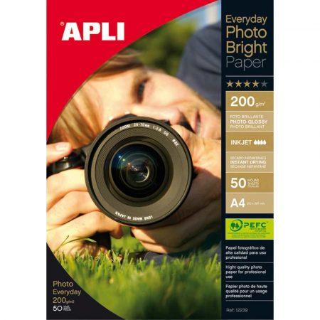 sprzęt biurowy 4 alibiuro.pl Papier fotograficzny APLI Everyday Photo Paper A4 200gsm błyszczący 50ark. 78