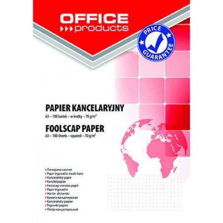 sprzęt biurowy 4 alibiuro.pl Papier kancelaryjny OFFICE PRODUCTS kratka A3 100ark. 46