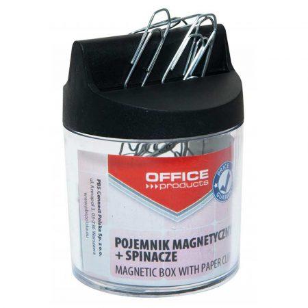 sprzęt biurowy 4 alibiuro.pl Pojemnik magn. na spinacze OFFICE PRODUCTS okrągły ze spinaczami transparentny 98