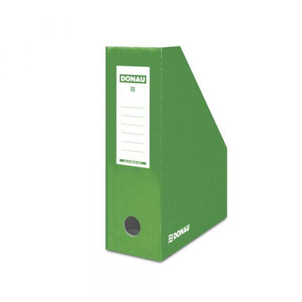 sprzęt biurowy 4 alibiuro.pl Pojemnik na dokumenty DONAU karton ścięty A4 100mm lakierowany zielony 47