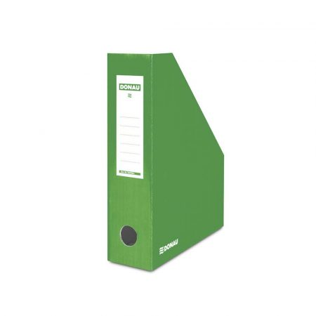 sprzęt biurowy 4 alibiuro.pl Pojemnik na dokumenty DONAU karton ścięty A4 80mm lakierowany zielony 21