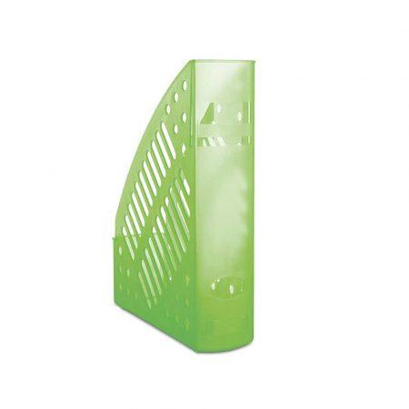sprzęt biurowy 4 alibiuro.pl Pojemnik na dokumenty ażurowy DONAU polistyren A4 transparentny zielony 74