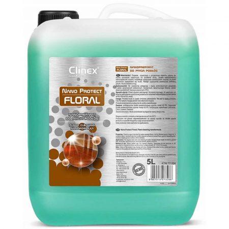 sprzęt biurowy 4 alibiuro.pl Preparat czyszczący CLINEX Nano Protect Floral 5L 22