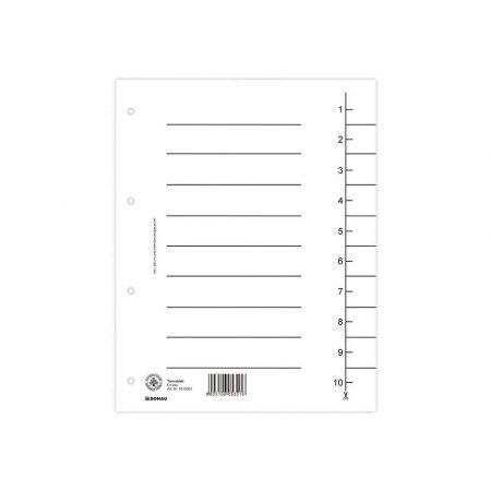 sprzęt biurowy 4 alibiuro.pl Przekładka DONAU karton A4 235x300mm 1 10 1 karta biała 33