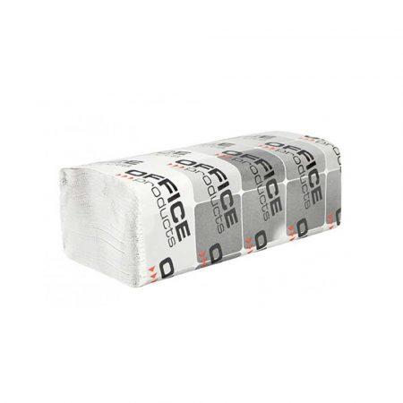 sprzęt biurowy 4 alibiuro.pl Ręczniki składane ZZ makulaturowe OFFICE PRODUCTS 1 warstwowe 4000 listków 20szt. białe 12