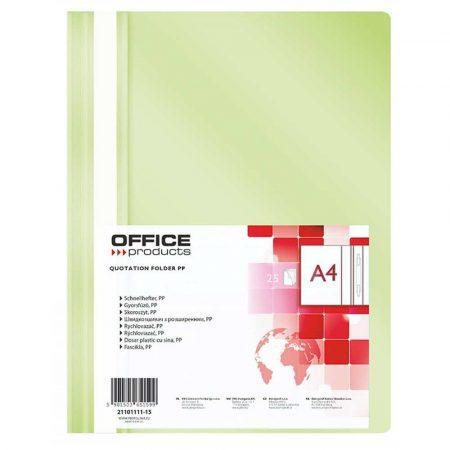 sprzęt biurowy 4 alibiuro.pl Skoroszyt OFFICE PRODUCTS PP A4 miękki 100 170mikr. jasnozielony 3