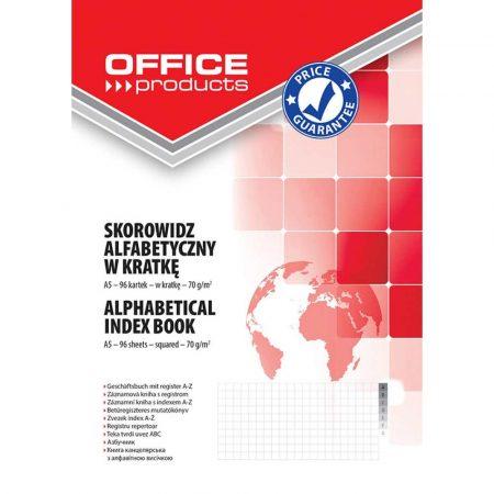 sprzęt biurowy 4 alibiuro.pl Skorowidz OFFICE PRODUCTS A5 w kratkę alfabetyczny twarda okładka 96 kart. 70gsm 6