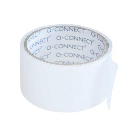 sprzęt biurowy 4 alibiuro.pl Taśma dwustronna Q CONNECT 50mm 5m transparentna 63