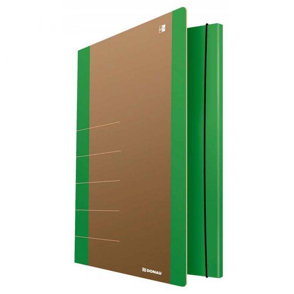 sprzęt biurowy 4 alibiuro.pl Teczka z gumką DONAU Life Karton A4 500gsm 3 skrz. zielony 44