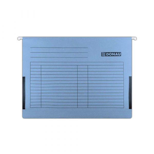sprzęt biurowy 4 alibiuro.pl Teczka zawieszkowa DONAU z boczkami A4 230gsm niebieska 92