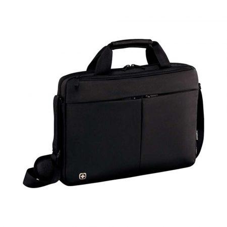 sprzęt biurowy 4 alibiuro.pl Torba na laptopa WENGER Slim Format 14 Inch 390x260x80mm czarna 62