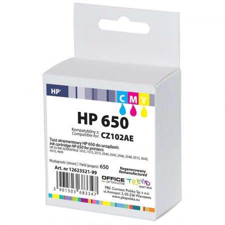 sprzęt biurowy 4 alibiuro.pl Tusz OP R HP CZ102AE HP 650 do DJ Ink Advantage 2545 cyan magenta yellow 70