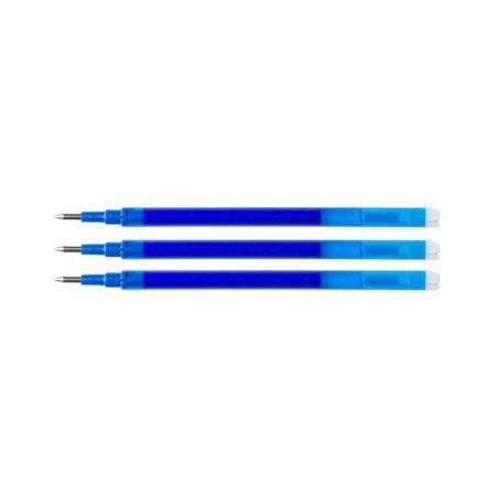 sprzęt biurowy 4 alibiuro.pl Wkład do długopisu wymazywalnego Q CONNECT 1 0mm 3szt. zawieszka niebieski 71