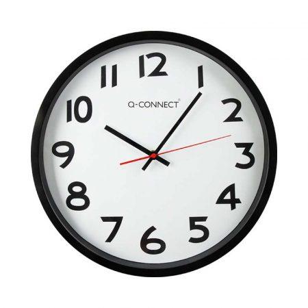 sprzęt biurowy 4 alibiuro.pl Zegar ścienny Q CONNECT Wels 34cm czarny 60