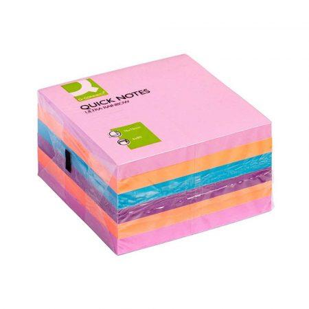 sprzęt biurowy 4 alibiuro.pl Zestaw bloczków samoprzylepnych Q CONNECT 76x76mm 6x80 kart. mix kolorów 14