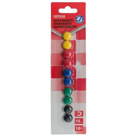 taśma magnetyczna 4 alibiuro.pl Magnesy do tablic OFFICE PRODUCTS okrągłe średnica 15mm 10szt. blister mix kolorów 28