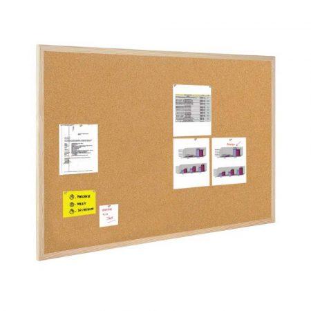 tablica korkowa w ramie aluminiowej 4 alibiuro.pl Tablica korkowa BI OFFICE 90x60cm rama drewniana 58