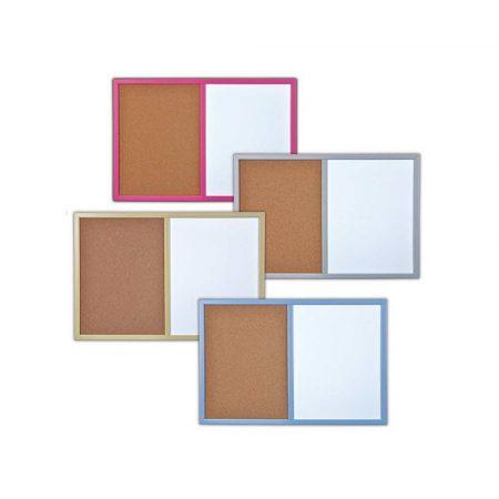 tablica magnetyczna 4 alibiuro.pl Tablica suchoś. korkowa BI OFFICE Combo 60x40cm lakierowana kolorowe ramy 27