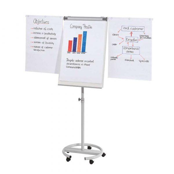 tablice i prezentacja 4 alibiuro.pl Flipchart mobilny FRANKEN 68x110cm tablica suchoś. magn. z wyciąganymi ramionami 38