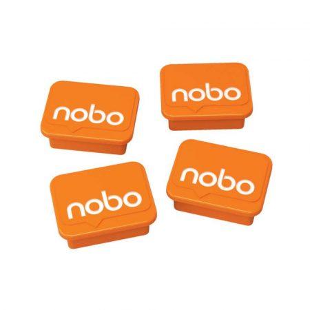 tablice i prezentacja 4 alibiuro.pl Magnesy do tablic NOBO prostokoątne 18x22mm 4szt. pomarańczowe 81