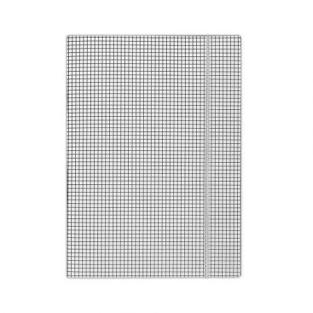 teczka biurowa 4 alibiuro.pl Teczka z gumką DONAU karton A4 400gsm 3 skrz. biała w kratę 17