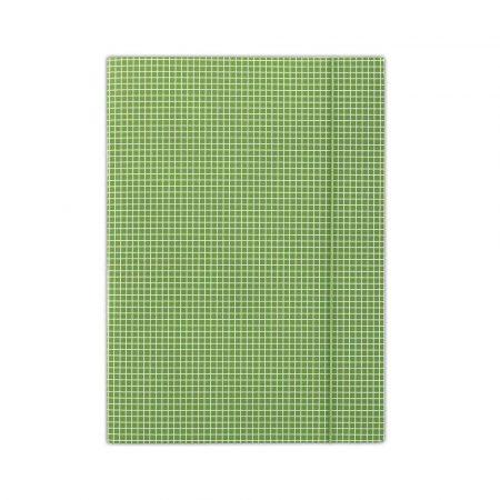 teczka biurowa 4 alibiuro.pl Teczka z gumką DONAU karton A4 400gsm 3 skrz. zielona w kratę 30