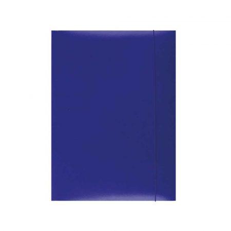 teczka biurowa 4 alibiuro.pl Teczka z gumką OFFICE PRODUCTS karton A4 300gsm 3 skrz. niebieska 76
