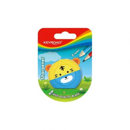 temperówka 4 alibiuro.pl Temperówka KEYROAD Speedy Snail plastikowa podwójna blister mix kolorów 61
