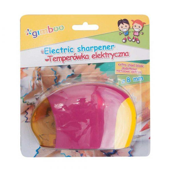 temperówka 4 alibiuro.pl Temperówka elektryczna GIMBOO pojedyncza blister mix kolorów 37