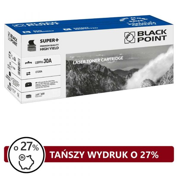 tonery zamienniki 3 alibiuro.pl LBPPH30A Toner BP S HP CF230A BlackPoint LBPPH30A BLH230ABCBW 88