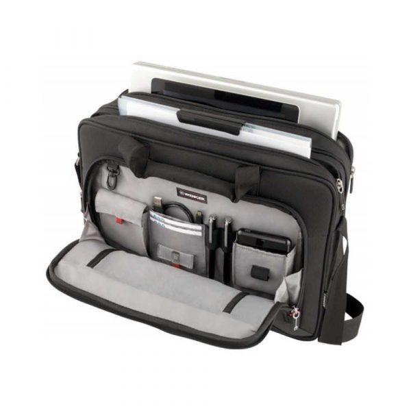 torby komputerowe 4 alibiuro.pl Torba na laptopa WENGER Prospectus 16 Inch 420x330x150mm czarna 76