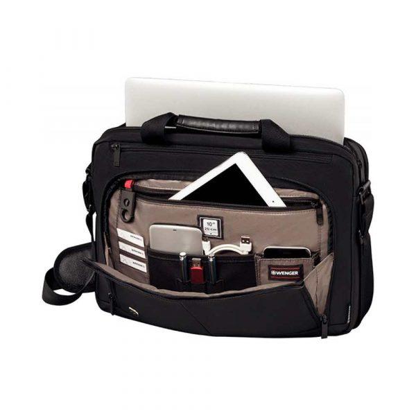 torby komputerowe 4 alibiuro.pl Torba na laptopa WENGER Source 16 Inch 410x280x120mm czarna 63