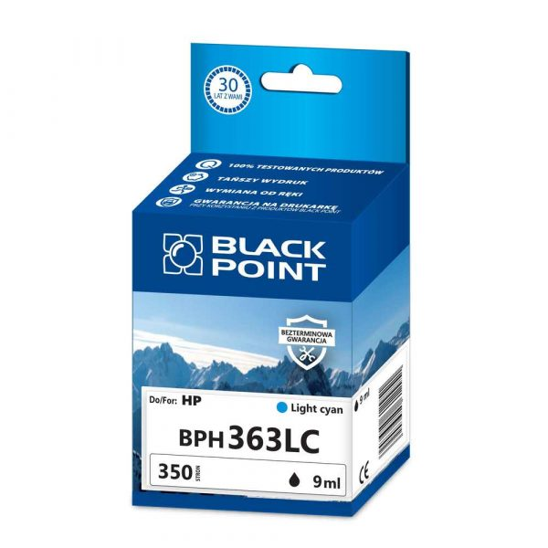tusz zamienny 3 alibiuro.pl BPH363LC Ink Tusz BP HP BLIS BlackPoint BPH363LC SGH0363BGLCW 12