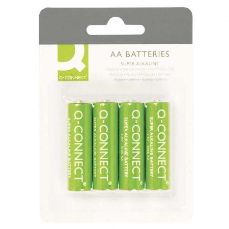 urządzenia biurowe 4 alibiuro.pl Baterie super alkaliczne Q CONNECT AA LR06 1 5V 4szt. 78
