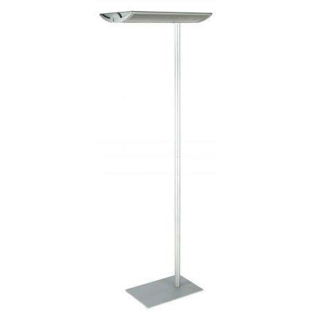 urządzenia biurowe 4 alibiuro.pl Energooszczędna lampa podłogowa MAULmaioris 2x55W srebrna 76