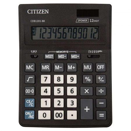 urządzenia biurowe 4 alibiuro.pl Kalkulator biurowy CITIZEN CDB1201 BK Business Line 12 cyfrowy 205x155mm czarny 2