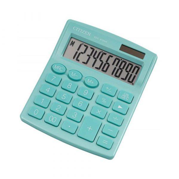 urządzenia biurowe 4 alibiuro.pl Kalkulator biurowy CITIZEN SDC 810NRGRE 10 cyfrowy 127x105mm zielony 16