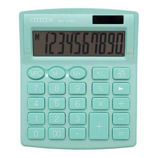urządzenia biurowe 4 alibiuro.pl Kalkulator biurowy CITIZEN SDC 810NRGRE 10 cyfrowy 127x105mm zielony 64