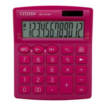 urządzenia biurowe 4 alibiuro.pl Kalkulator biurowy CITIZEN SDC 812NRPKE 12 cyfrowy 127x105mm różowy 41
