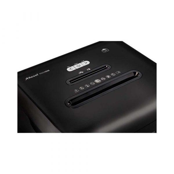 urządzenia biurowe 4 alibiuro.pl Niszczarka REXEL Promax RSS1838 paski P 2 18 kart. 38l karty kredytowe CD czarna 87