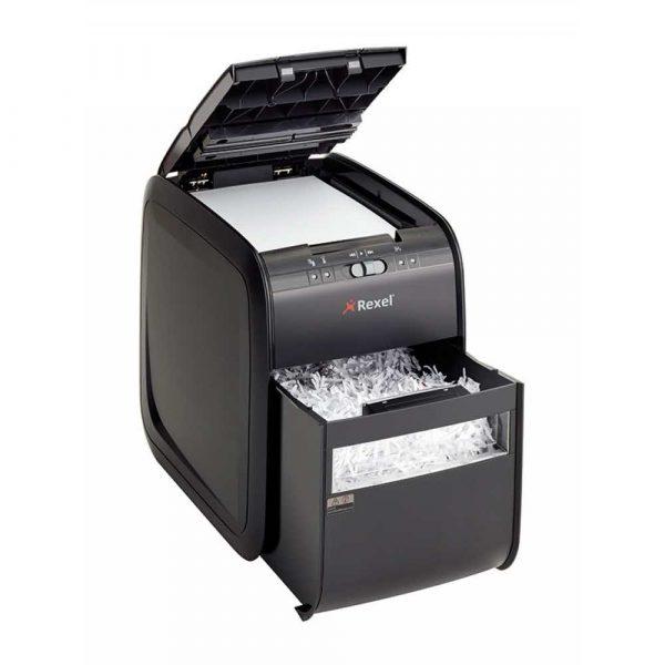 urządzenia biurowe 4 alibiuro.pl Niszczarka automatyczna REXEL Auto 90X EU konfetti P 3 90 kart. 20l karty kredytowe czarna 55