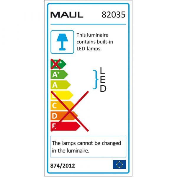 urządzenia elektryczne 4 alibiuro.pl Lampka LED na biurko MAULatlantic 9W mocowana zaciskiem biała 12